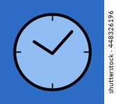 clock icon   Shutterstock .eps vector #448326196
