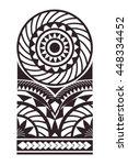 maori   polynesian bracelets... | Shutterstock .eps vector #448334452