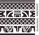 maori   polynesian bracelets... | Shutterstock .eps vector #448334455