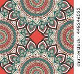 seamless pattern. vintage... | Shutterstock . vector #448346032