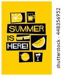 summer is here   vector... | Shutterstock .eps vector #448356952