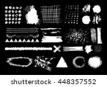 vector set of white brush... | Shutterstock .eps vector #448357552