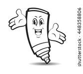 outlined happy marker pen...   Shutterstock .eps vector #448358806