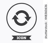 rotation icon. repeat symbol.... | Shutterstock .eps vector #448360636
