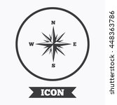 compass sign icon. windrose... | Shutterstock .eps vector #448363786