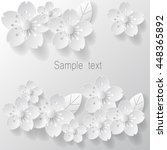 paper art flower background.... | Shutterstock .eps vector #448365892