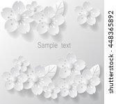 paper art flower background.... | Shutterstock .eps vector #448365892