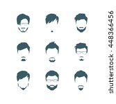 the set of man's hairdresses in ... | Shutterstock .eps vector #448366456
