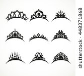 set of silhouettes of tiaras of ... | Shutterstock .eps vector #448371868