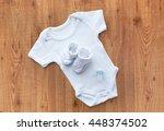 baby clothes  babyhood ... | Shutterstock . vector #448374502