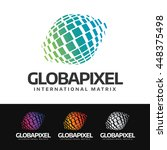 logo of a stylized globe with... | Shutterstock .eps vector #448375498