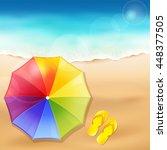 vector illustration of a beach... | Shutterstock .eps vector #448377505