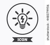 light lamp sign icon. bulb with ... | Shutterstock .eps vector #448379956