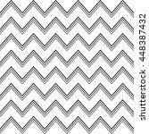 vector seamless chevron zigzag... | Shutterstock .eps vector #448387432