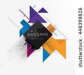 geometric vector background.... | Shutterstock .eps vector #448398826