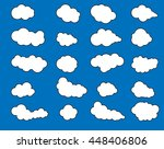 clouds icons on blue background | Shutterstock .eps vector #448406806