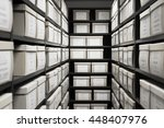 storage archive depository room ... | Shutterstock . vector #448407976