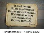 Quote Of The Roman Philosopher...