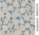 seamless paisley pattern.... | Shutterstock .eps vector #448421476