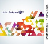 awesome stylish geometric... | Shutterstock .eps vector #448424206