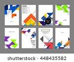 geometric cover background ... | Shutterstock .eps vector #448435582