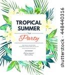 bright hawaiian design with... | Shutterstock . vector #448440316