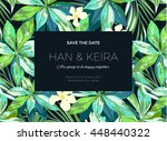 wedding invitation and card... | Shutterstock . vector #448440322