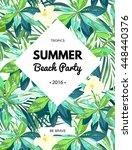 bright hawaiian design with... | Shutterstock . vector #448440376