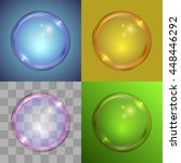 soap bubble vector template on... | Shutterstock .eps vector #448446292