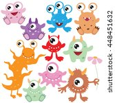 cute monster vector illustration | Shutterstock .eps vector #448451632