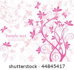 beautiful floral pink card | Shutterstock .eps vector #44845417