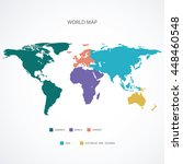 world map | Shutterstock .eps vector #448460548