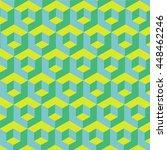 pattern volumetric cubes.... | Shutterstock .eps vector #448462246
