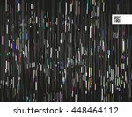 glitched lines and colorful... | Shutterstock .eps vector #448464112