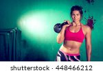 young adult crossfit girl... | Shutterstock . vector #448466212