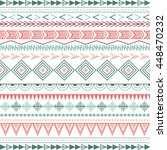 colorful ethnic patterns.... | Shutterstock . vector #448470232