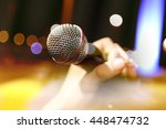 live music background.karaoke... | Shutterstock . vector #448474732