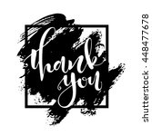 thank you card. hand drawn... | Shutterstock .eps vector #448477678
