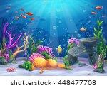 marine life landscape   the... | Shutterstock .eps vector #448477708