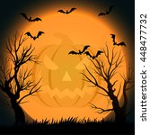 halloween background eps10 | Shutterstock .eps vector #448477732