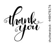 thank you card. hand drawn... | Shutterstock .eps vector #448478176