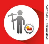 industry construction car in... | Shutterstock .eps vector #448482892