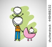 lovely family icon with father  ... | Shutterstock .eps vector #448488232