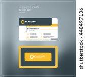 corporate business card print...   Shutterstock .eps vector #448497136