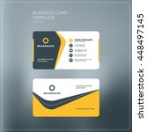 corporate business card print... | Shutterstock .eps vector #448497145