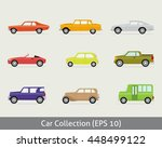 car icon set with vector flat | Shutterstock .eps vector #448499122