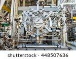 engine turbine operation in oil ... | Shutterstock . vector #448507636