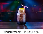 nightclub cocktail with lime... | Shutterstock . vector #448511776