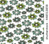 seamless pattern with flowers.... | Shutterstock .eps vector #448513858