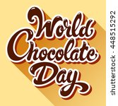 chocolate day hand drawn... | Shutterstock .eps vector #448515292